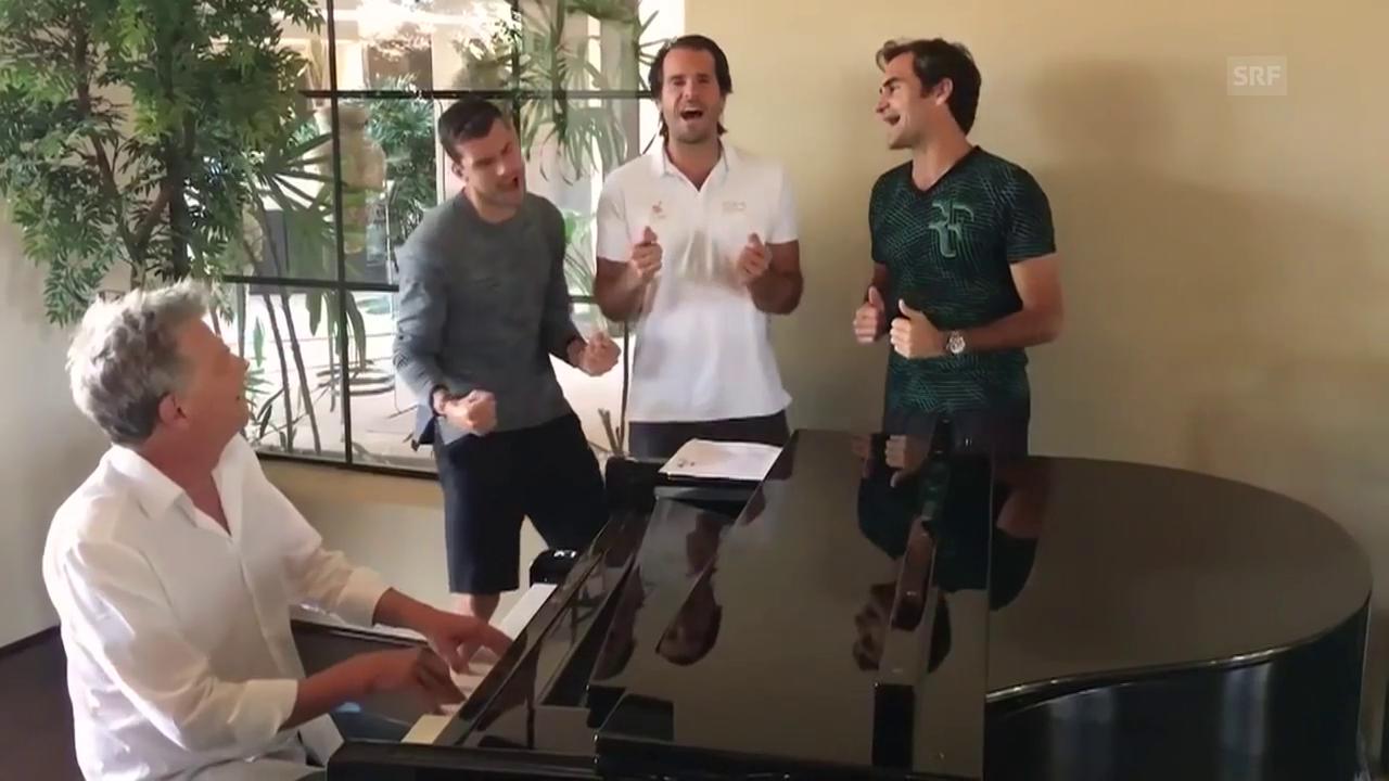 Roger Federer als Boyband-Mitglied