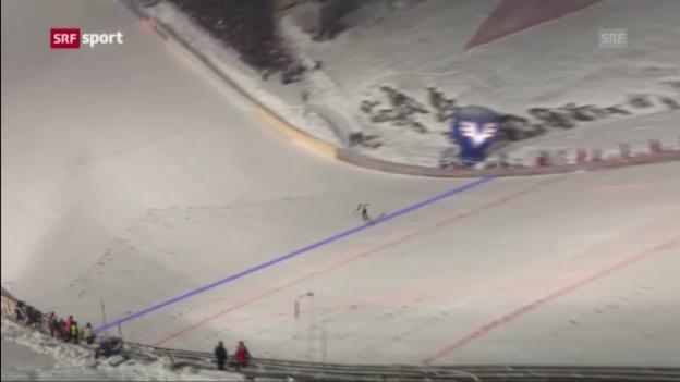 Video «Skifliegen: Weltcup in Vikersund» abspielen