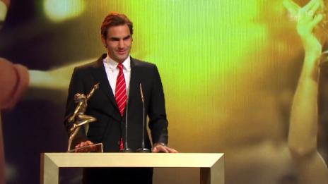 Video «Sports Awards: Roger Federer wird «Sportler des Jahres»» abspielen
