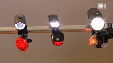 Video «Velolampen-Test: Welche Modelle Leuchten sind» abspielen