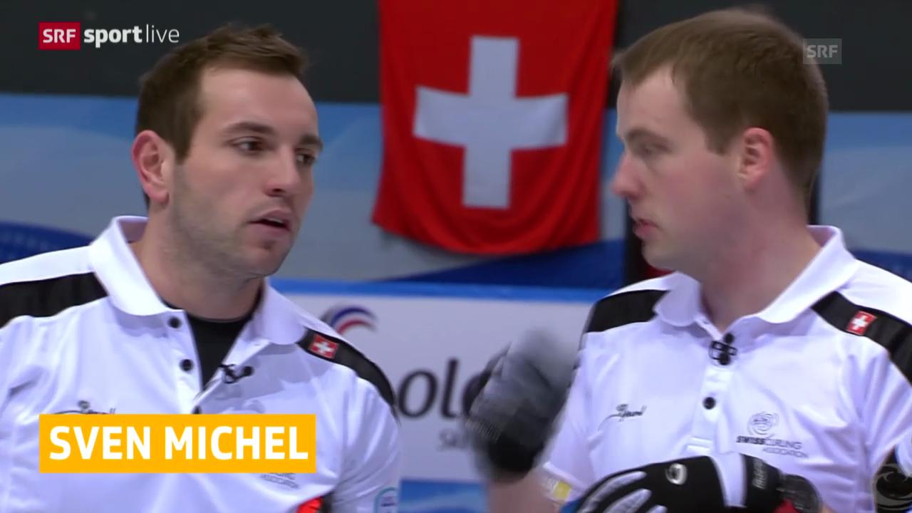 Curling: EM, Schweiz - Norwegen