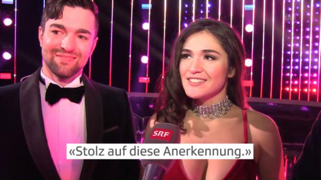 Video «Timebelle über ihren Sieg nach dem Schweizer ESC-Finale» abspielen