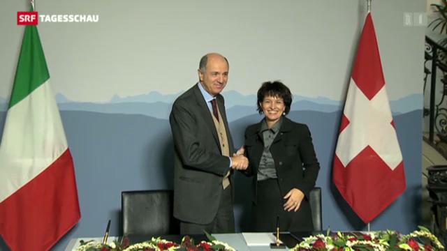 Schweiz investiert in italienische Neat-Anschlüsse