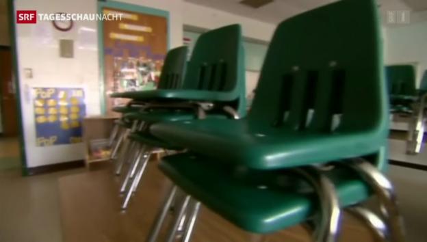 Video «Öffentliche Schulen wegen Shutdown geschlossen» abspielen