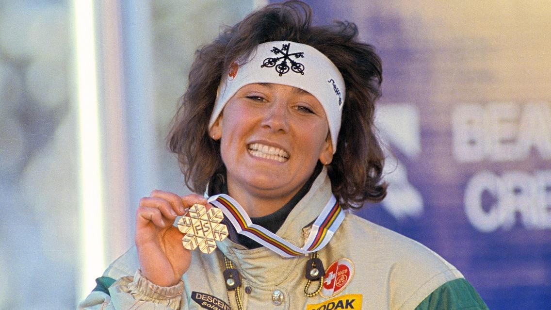 Maria Walliser blickt auf ihr Abfahrts-Gold 1989 zurück