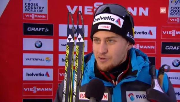 Video «Langlauf-Staffel: Interview Roman Furger» abspielen