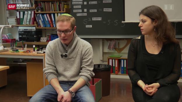 Video «Religiöser Austausch: Jüdische Jugendliche besuchen Schulklassen» abspielen