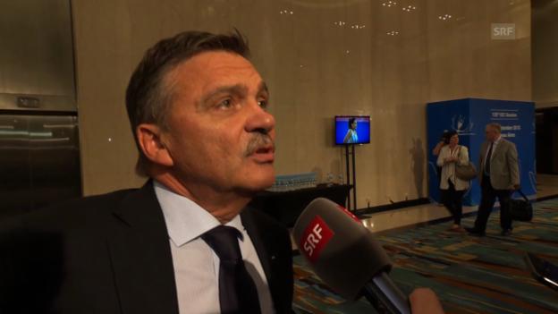Video «René Fasel zur Präsidenten-Wahl» abspielen