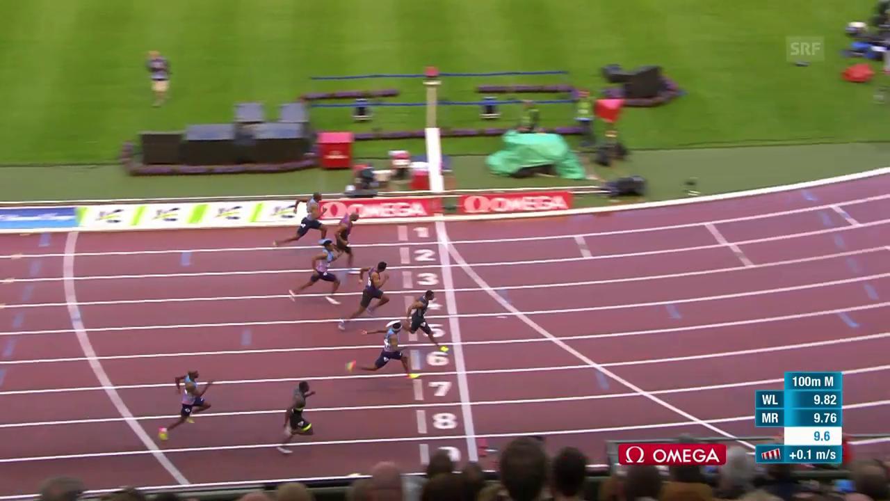 Blake setzt sich über 100 m durch