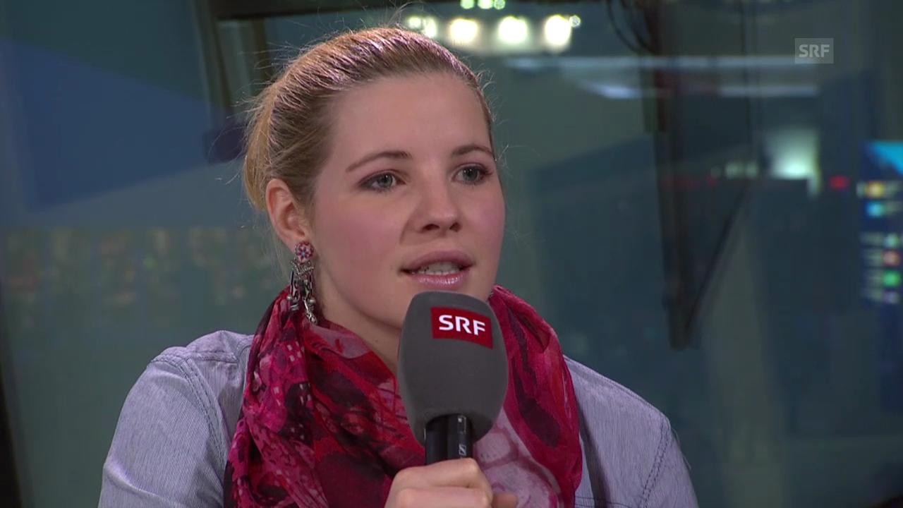 Ski: Tina Weirather über ihr Verletzungspech (sotschi direkt, 15.02.2014)