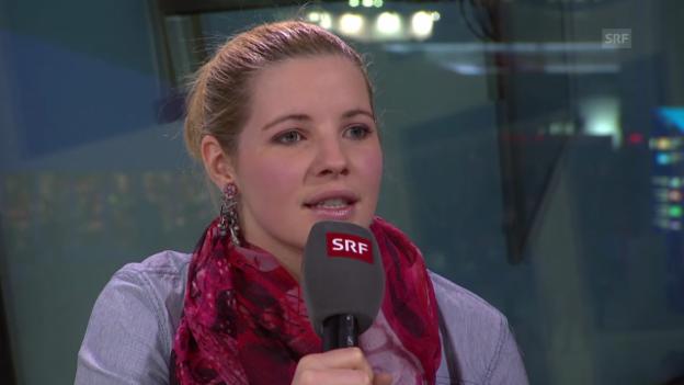 Video «Ski: Tina Weirather über ihr Verletzungspech (sotschi direkt, 15.02.2014)» abspielen