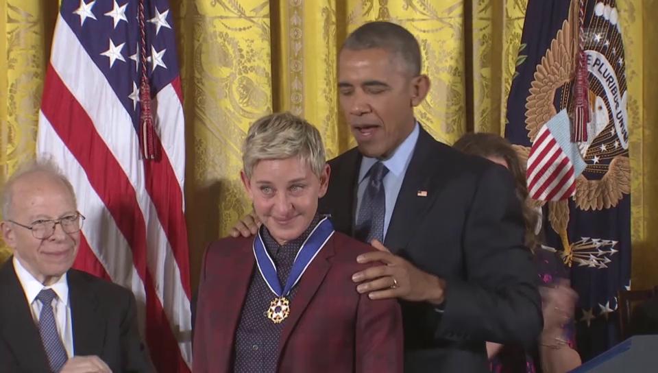 Ellen DeGeneres erhält die Freiheitsmedaille
