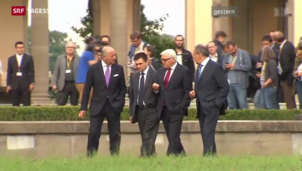 Video «Treffen zur Ukraine-Krise endet ergebnislos» abspielen