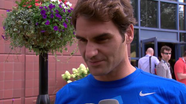Video «Tennis: Roger Federer vor den US Open im Interview» abspielen