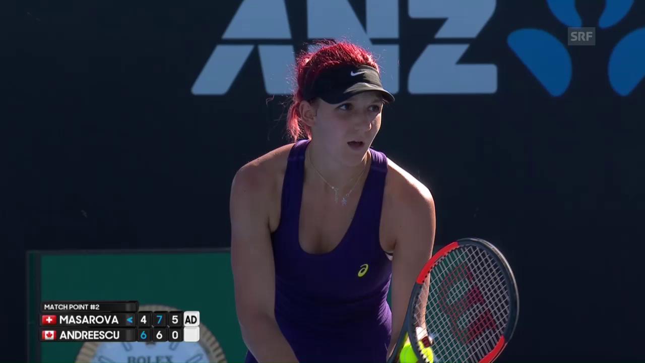 Die Highlights bei Masarova - Andreescu