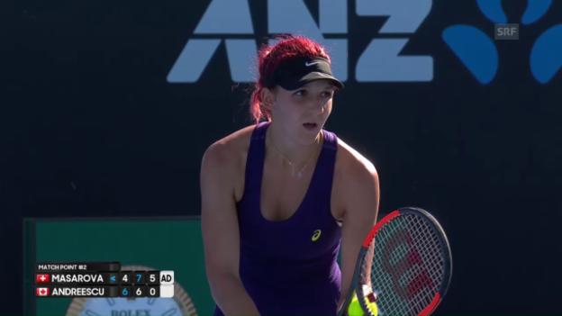 Video «Die Highlights bei Masarova - Andreescu» abspielen