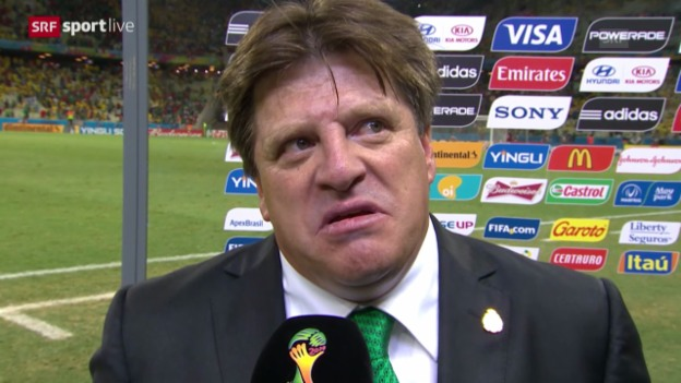 Video «Fussball: Interview mit Mexiko-Coach Miguel Herrera» abspielen