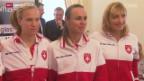 Video «Tennis: Fedcup, Polen-Schweiz, Auslosung» abspielen