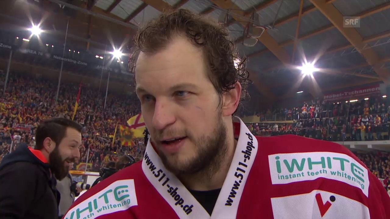 Eishockey: NLA, Liga-Quali, Tigers - Lakers, Interview Martin Stettler