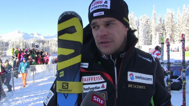 Video «Ski: SG Lake Louise, Interview mit Patrick Küng» abspielen
