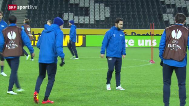 Video «Fussball: Europa League, vor Gladbach-FCZ» abspielen