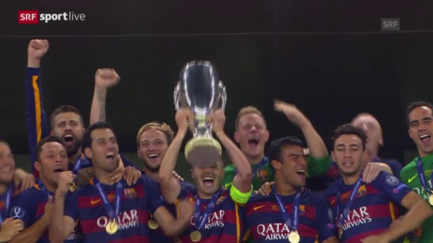 Video «Fussball: UEFA-Supercup 2014/15, Barcelona - Sevilla» abspielen