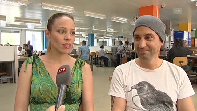 Evelyn Zangger und DJ Mike Candys