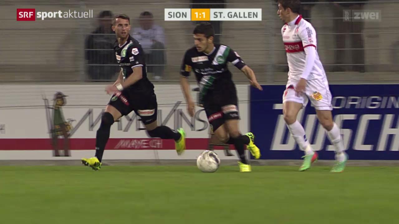 Fussball: Sion - St. Gallen