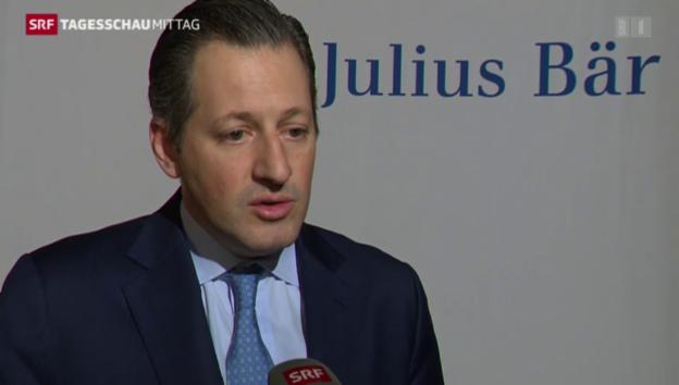 Video «Julius Bär will Kosten Senken» abspielen