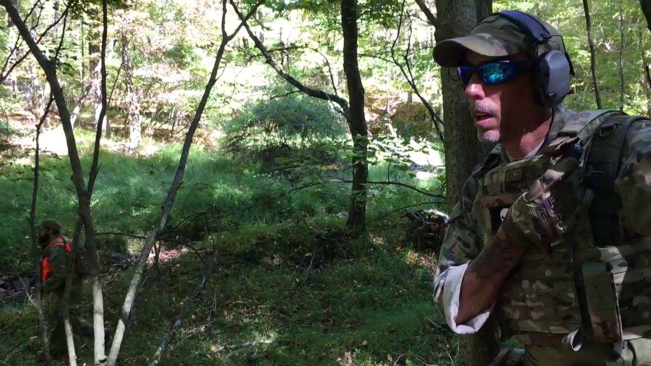 Die «Pennsylvania Lightfoot Militia» trainiert mit scharfer Munition