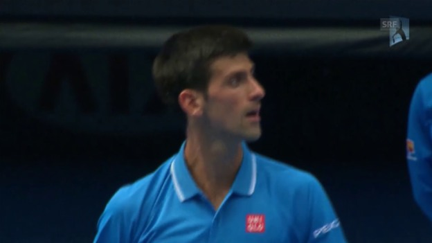 Video «Tennis: Australian Open in Melbourne, 1. Runde Djokovic - Bedene» abspielen