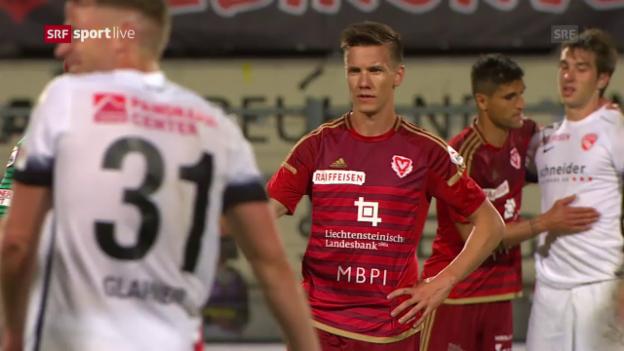 Video «Thun fügt dem FC Vaduz eine letzte Super-League-Niederlage zu» abspielen