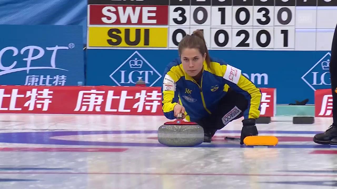 Dieser Stein besiegelt die dritte Niederlage der Schweiz (EVS)