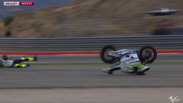 Video «Moto2: Sturz von Aegerter» abspielen