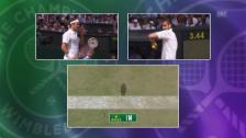 Video «Federer zieht gegen Cilic den Kopf aus der Schlinge» abspielen
