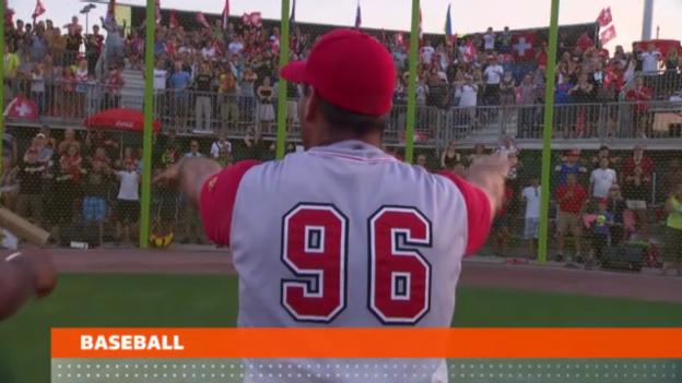 Video «Schweizer Baseballer schlagen Slowenien» abspielen