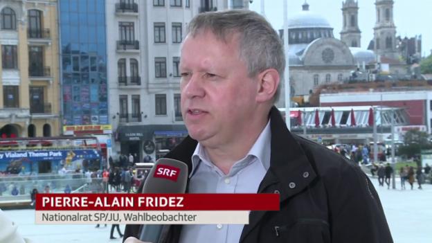 Video «Schweizer Wahlbeobachter kritisiert «einseitige Kampagne»» abspielen