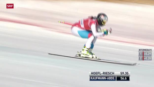Video «Ski: Abfahrt Frauen Lake Louise» abspielen
