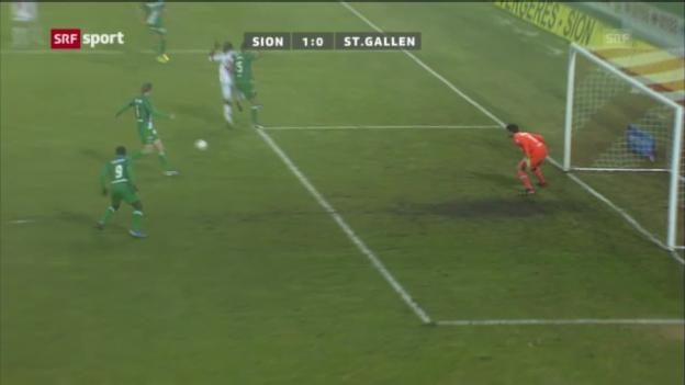Video «FC Sion - FC St. Gallen («sportaktuell»)» abspielen