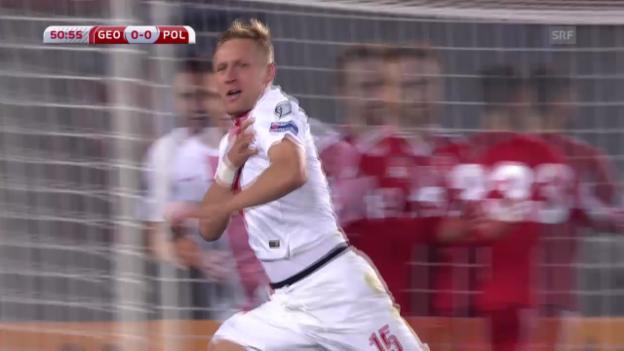 Video «Fussball: Georgien-Polen 0:4» abspielen