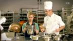 Video «Sepp Fässler und Myriam bereiten den Teig für denTruffescake vor» abspielen