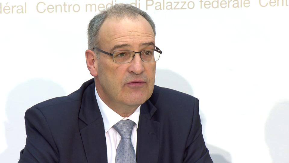 Parmelin informiert über den Rücktritt von Blattmann