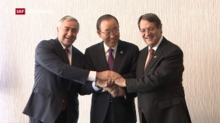 Video «Gespräche zur Lösung der Zypernfrage begonnen» abspielen