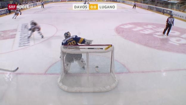 Video «Eishockey: NLA, Davos - Lugano» abspielen