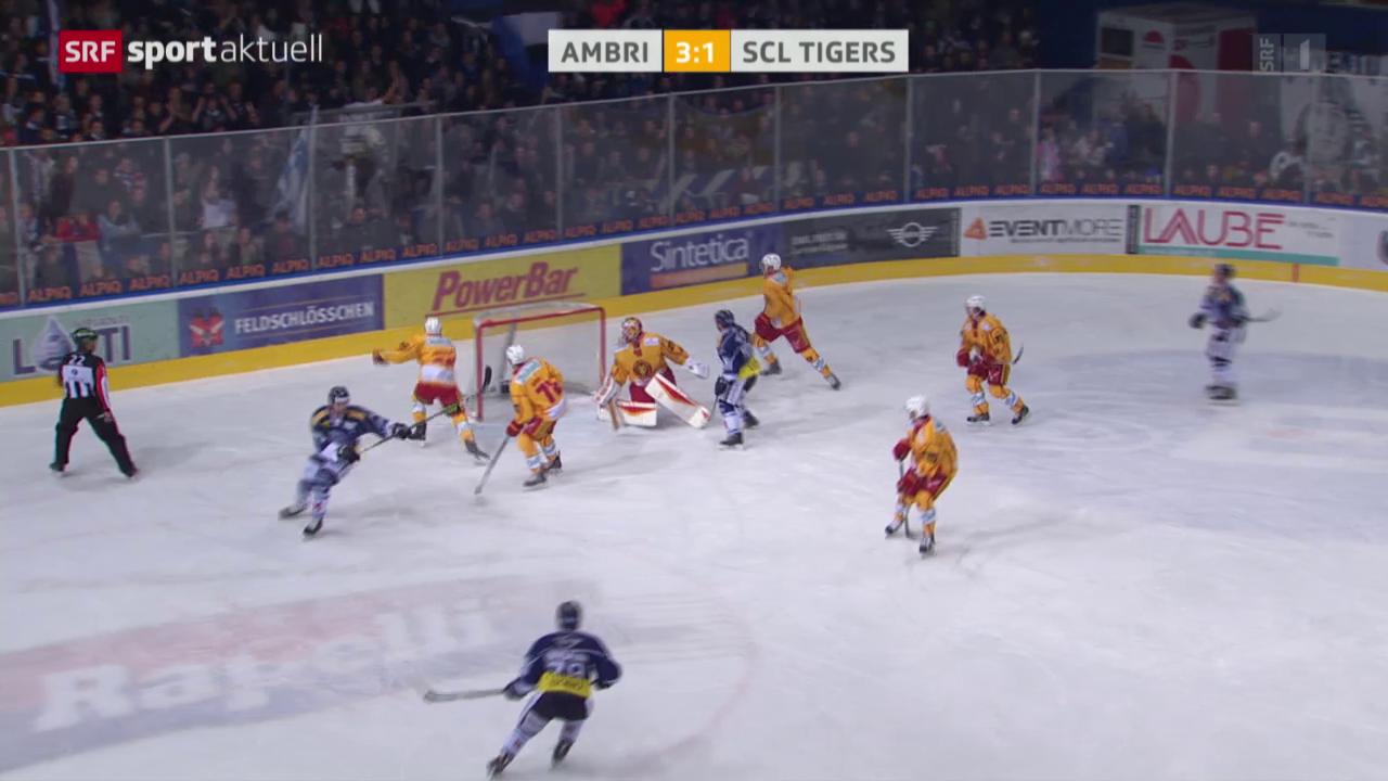 Eishockey: NLA, Ambri - Tigers