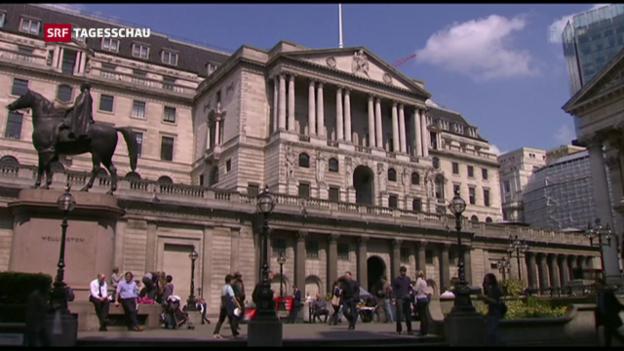 Video «Britische Nationalbank senkt Leitzinsen» abspielen
