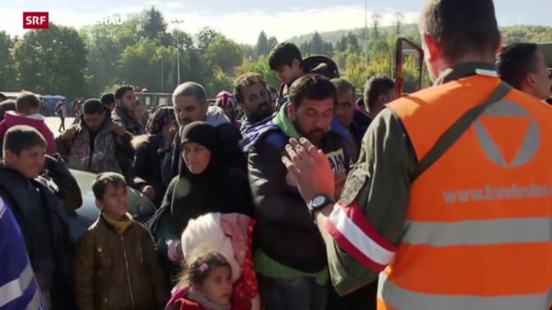Video «Flüchtlings-Obergrenze in Österreich bald erreicht» abspielen