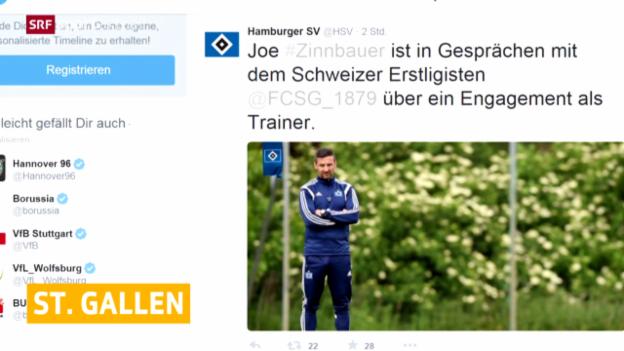 Video «Fussball: Josef Zinnbauer bei St. Gallen im Gespräch» abspielen