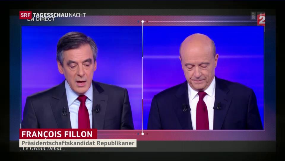 Fillon gegen Juppé: Das erste £T