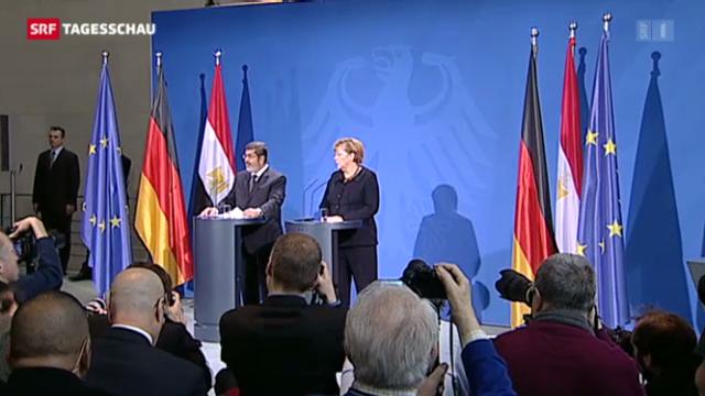 Mursi bei Merkel